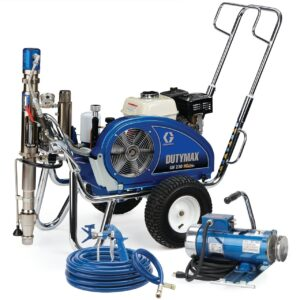 dutymax gh 230 hd standard series convertible gas hydraulic airless sprayer with electric motor kit (24w944)